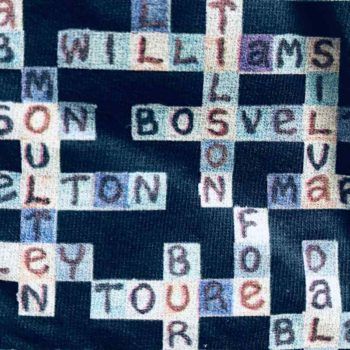 image of manchester city navy tshirt close up of players names