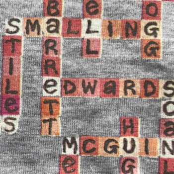 image of manchester united name-chains grey t-shirt details of players names