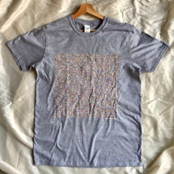 Image of Manchester Bands name-chains grey t-shirt