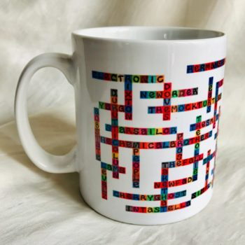 photo of mancheste bands name-chains mug showing handle on the left