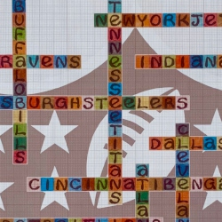 image of NFL limited edition name-chains print showing close up